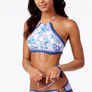 BECCA Bikini halter swimsuit top size Medium